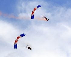 show of paragliders