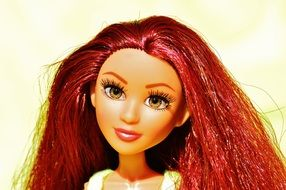 doll with brown long hair