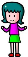 colorful graphic image of a funny girl