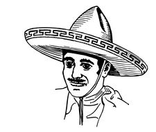 Man in Sombrero drawing