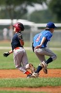 Collision in Little League of Baseball