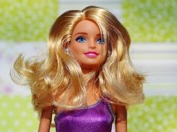 Barbie with luxurious blond hair