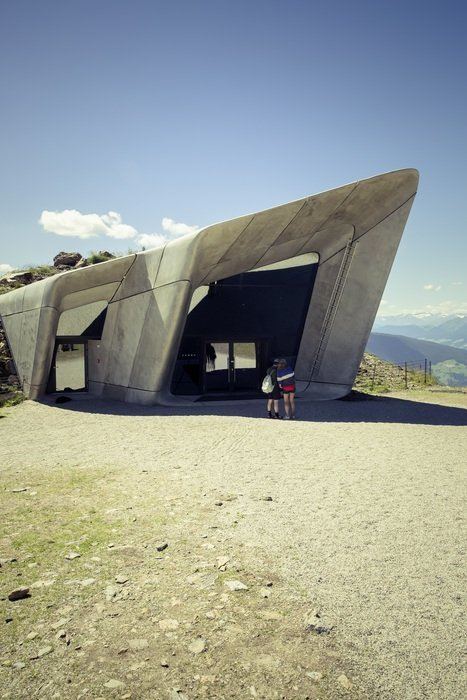 tourist attraction in the dolomites in south tyrol