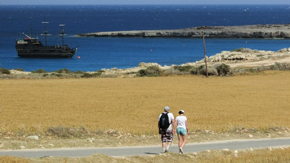 hikers in cape greco