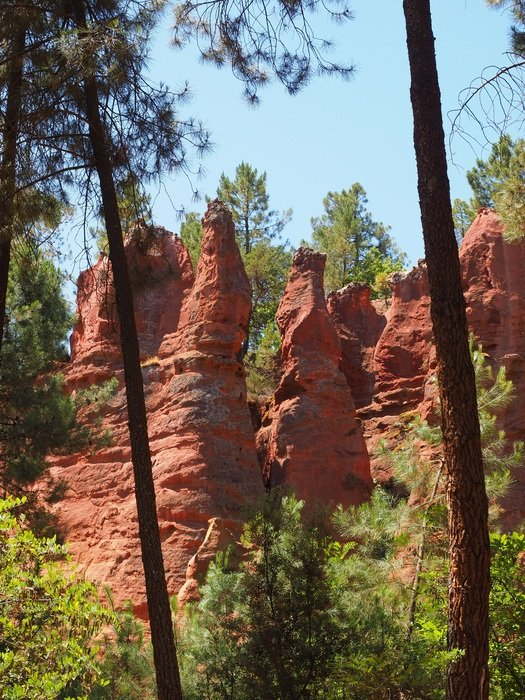 red ochre rocks in France