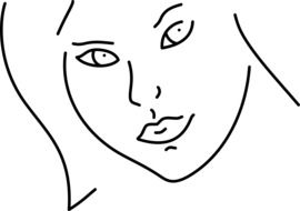 Beauty Doodle Face Girl