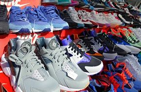 sneakers are sold on the stand