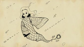 drawing cartoon cute mermaid