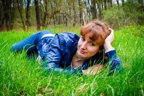 Portrait of young Girl In The Grass