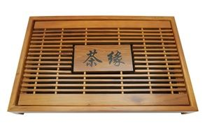 with Chinese symbols wooden tray