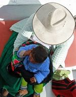 mother with baby in peru