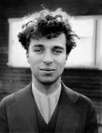black and white photo of young charlie chaplin in 1916