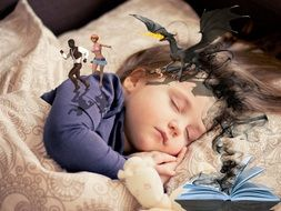 Fantasy The Dream Of A Sleeping Girl