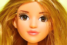 beatuful face of a doll