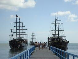ships at the pier in brazil