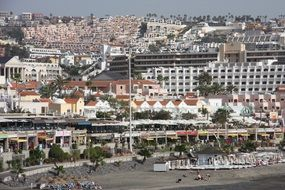 panoramic view of the city on the coast of the Canary Islands