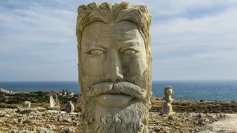 large head sculpture in Ayia Napa