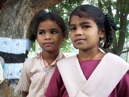 photo of two indian schoolgirls
