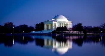 Jefferson Memorial - the memorial complex dedicated to the third President of the USA