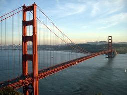 golden gate bridge san francisco sea view