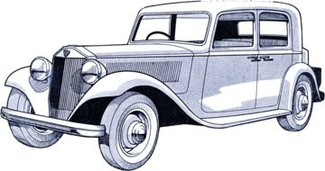 old Car Vintage Drawing