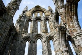 ruins of abbey whitby inside view