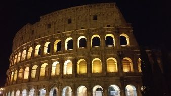 Landscape of Colosseum at night