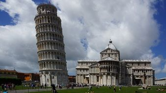 leaning tower as the main symbol of pisa