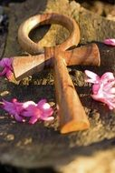 wooden cross as a symbol of spirituality