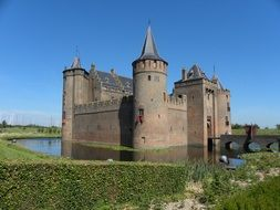 moat near the castle in the netherlands