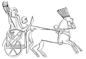 illustration of Egyptian Chariot Horses