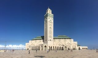 landscape of the islam mosque in Casablanca