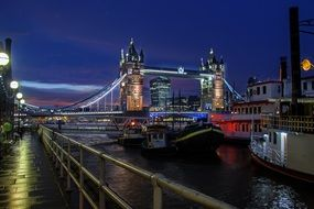 Night London Tower Bridge