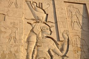 pharaohs on the walls of the temples of egypt