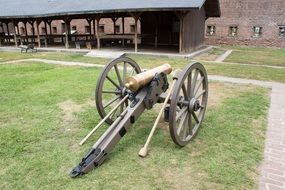 Civil War Cannon in Old Fort Jackson