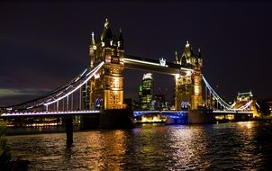 Tower Bridge with night illumination