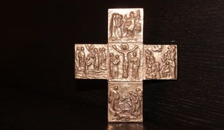 bronze cross as a symbol of religion
