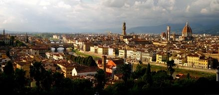 view of sunny florence