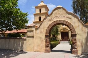 arched gate in california