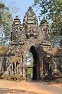entrance to the temple complex in cambodia