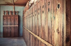 cabinets in Dachau concentration camp