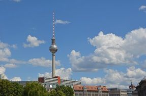 distant view of the TV tower in Berlin