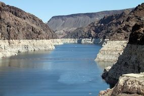Hoover Dam in the canyon