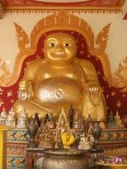 golden statue of the god in Thailand