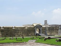 panorama of the fortress in mexico