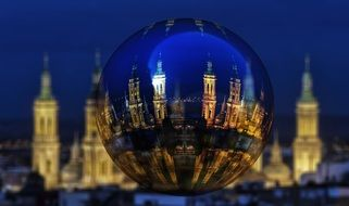 Zaragoza cathedrals in the New Year ball