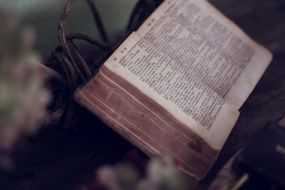 open book with scripture