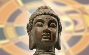 buddha head as a symbol of buddhism