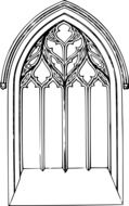 Arched Church Window, drawing