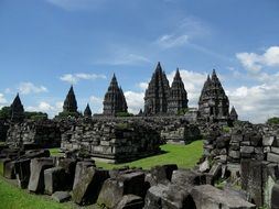 panoramic view of prambanan complex